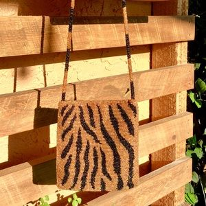 Beaded Handbag - Animal Print (Vintage)
